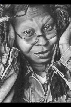 Pencil Portrait Mastery - Whoopi Goldberg --pencil portrait One of the Best Drawings on Whoopi Goldberg that Ive Ever Seen. Love the likeness. Beautifully Done ! - Discover The Secrets Of Drawing Realistic Pencil Portraits