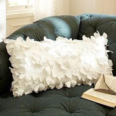 The Emily + Meritt Flutter Butterfly Pillow Cover from PBteen. Saved to Room. Shop more products from PBteen on Wanelo. Diy Pillows, Throw Pillows, Throw Blankets, Accent Pillows, Cushions, Butterfly Pillow, Butterfly Nursery, White Butterfly, Emily And Meritt