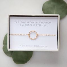 Mother & Daughter Eternity Bracelet #Bride-to-Be #Bridesmaid #gifts-for-mom