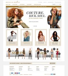 fashion web design <3 BEAUTY + BRANDS ~ www,koleson.com