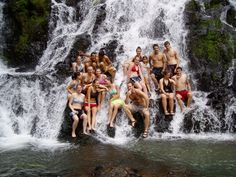 Globe Aware Volunteer Vacations Costa Rica Waterfall in the Rainforest