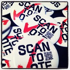 Scan to Vote buttons