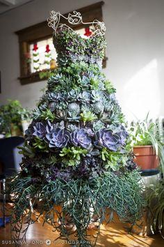 Dress Form Succulent Planter