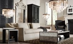 Rooms | Restoration Hardware EVEN IT HAS THE GLAM!