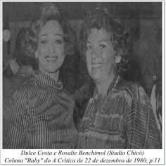 """Dulce Costa e Rosalie Benchimol. Coluna """"Baby"""" do A Crítica de 22 de dezembro de 1980."""