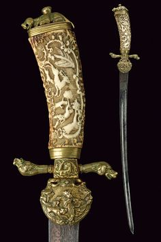 A beautiful hunting hanger,    provenance: Germany dating: 18th Century