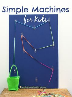 Learn about simple machines with a pulley board sponsored by 3M at Walmart. #ad #ProjectAmazing