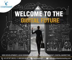 Shake hands with the digitalized future. Have an illumination of what's coming up next with Contizant. Internet Marketing, Online Marketing, Social Media Marketing, Digital Marketing, Basic Website, Custom Website, Social Media Page Design, Companies In Usa, Mobile Responsive