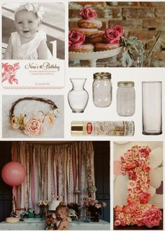 Garden party theme inspiration for first birthday party!