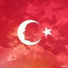 Mustafa Kemal Atatürk Türk Bayrağı Ay Yıldız