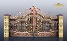 Front Gate Design, Main Gate Design, Door Gate Design, Front Gates, Entrance Gates, Entryway Flooring, Grades, Wrought Iron Gates, Modern Mansion