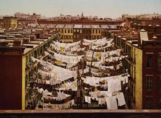 Laundry day New York City 1900
