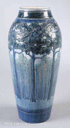 Newcomb College Art Pottery High Glaze Vase , 1908