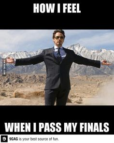 How I feel when I pass my finals