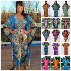 Taj Mahal Printed Boho Maxi Caftan Kaftan Dress or Cover Up S M L XL 1X 2X 3X! #NeelamJustLoveHighness #MaxiCaftan
