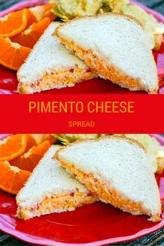 Pimento Cheese is a savory Southern sandwich spread that's quick and easy to make! Pimento Cheese is a simple combination of cheddar and American cheeses with pimiento peppers and other seasonings. Homemade Pimento Cheese, Pimento Cheese Recipes, Baked Cheese, Finger Sandwiches, Delicious Sandwiches, Tea Sandwiches, Recipes Appetizers And Snacks, Snack Recipes, Cooking Recipes