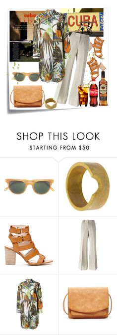 """""""Time for a Cuba Libre"""" by diane-fritz-sager on Polyvore featuring Post-It, Garrett Leight, Ports 1961, Sole Society, MICHAEL Michael Kors and VALENTINE GAUTHIER"""