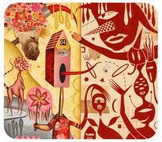 Two Worlds Colin Johnson American Illustration, Collage Illustration, Collage Art, Moleskine Sketchbook, Sketchbook Ideas, Indie Art, Communication Art, Paper Book, Ap Art