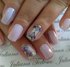 Make an original manicure for Valentine's Day - My Nails Diy Nail Designs, Colorful Nail Designs, Nail Manicure, My Nails, Nail Effects, Latest Nail Art, Girls Nails, Flower Nail Art, Bridal Nails