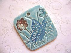 Thinking Of Spring Ceramic Pendant by JulesCeramics on Etsy, $7.50