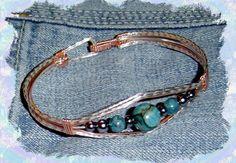 Rainbow Calsilica Wire Wrap Bracelet by TURTLECOAST on Etsy. , via Etsy.