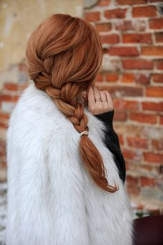 Pretty auburn braid.