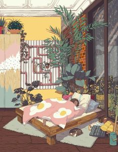 """""""Hello hello I´m Liya, a chinese interior architecture student based in Germany! I´d love to work more with illustrations in the future tho lol 🌻🌸🌼I love anything with plants, flowers and cozy environments! Art And Illustration, Landscape Illustration, Art Mignon, Wow Art, Art Graphique, Art Design, Aesthetic Art, Cute Art, Art Inspo"""