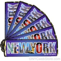"""CitySouvenirs.com - New York City Chocolate Bars, $2.25 (http://www.citysouvenirs.com/new-york-city-chocolate-bars/)New York City Chocolate Bars  Need the perfect gift?  Love the Big Apple?  Our New York City milk chocolate bars are perfect.  Measures 5.63"""" L x 1.63"""" W x .38"""" H with a net weight of 2.25 oz per bar Kosher certified - OU D   Makes a great gift!"""