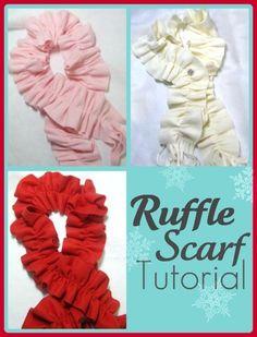 Easy Fleece Ruffle Scarf  PDF Tutorial by lilliannamarie on Etsy, $8.00