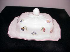 Villeroy & Boch Petite Fleur Covered Butter by thebestofthepast
