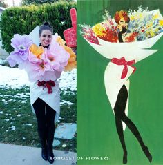 Flower Bouquet costume. Need to find some place to wear this! Hard to turn this into a couple's costume...   http://thehousethatlarsbuilt.com/wp-content/uploads/2012/11/BOUQUET-OF-FLOWERS-HALLOWEEN-COSTUME.jpg