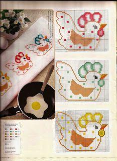 Ângela Bordados: Bom dia pessoas lindas...este é o gráfico do panin... Cross Stitch Bookmarks, Cross Stitch Borders, Cross Stitch Designs, Cross Stitching, Cross Stitch Embroidery, Cross Stitch Patterns, Rooster Cross Stitch, Chicken Cross Stitch, Cross Stitch Kitchen