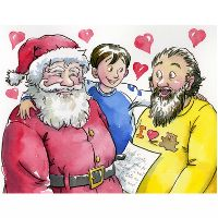 Dear Santa, Would you please date my father | A children's story by Rainbow Rumpus