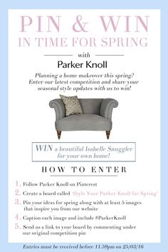 #ParkerKnoll Parker Knoll Pin & Win in Time for Spring Competition