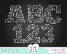 INSTANT DOWNLOAD Digital Alphabet Chalk Scribble Letters Teacher Clipart Scribble School Chalk Doodle Commercial Use Clip Art. $5.00, via Etsy.