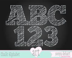 INSTANT DOWNLOAD Digital Alphabet Chalk Scribble Letters Teacher Clipart Scribble School Chalk Doodle Commercial Use Clip Art. $5.00, via Etsy.