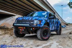 Ford Raptor Blue Digital Camo by Texas Motorworx - Cool Trucks, Big Trucks, Pickup Trucks, Custom Ford Raptor, 4x4 Ford Ranger, Ford Rapter, Camo Truck, Raptor Truck, Navara D40