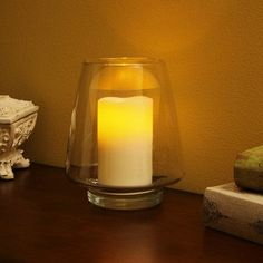 Flipo Pacific Accents Wavy Top Pillar Candle Size: