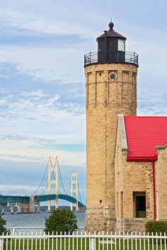 Old Mackinac Point Lighthouse in Michigan's Upper Peninsula. Photo © Kenneth Keifer/123rf. via moon.com