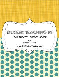 Student Teacher 101: The Student Teacher Binder