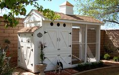 Your chickens will enjoy modern rustic living in an urban setting. From: 21 Positively Dreamy Chicken Coops