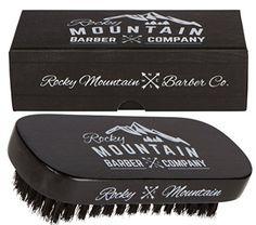 Rocky Mountain Barber Company Boar Hair Beard Brush for Men - Hipster Beard Products Hipster Beard, Hipster Man, Beard Products, Beard Brush, Boar Bristle, Hair And Beard Styles, Rocky Mountains, Barber, Men