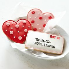 Personalized Giant Valentine's Day Cookies 20 dollar #williamssonoma