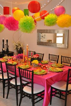 india party decorations~<3 the colors!