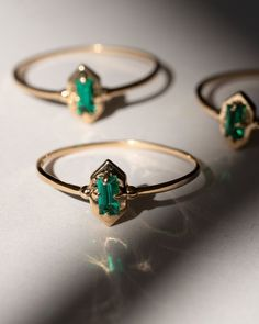 Lucky Elixir Yellow Gold Ring in Green Emerald Green Rings, Yellow Gold Rings, Emerald Wedding Rings, Emerald Ring Vintage, Emerald Rings, Emerald Ring Design, Emerald Jewelry, Diamond Rings, Emerald Green