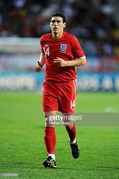Gareth Barry of England in action during the 2010 FIFA World Cup South Africa Group C match between Slovenia and England at the Nelson Mandela Bay. West Bromwich, Nelson Mandela, Crystal Palace, Fifa World Cup, England, Football, Baseball Cards, Slovenia, South Africa