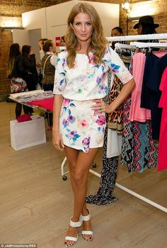 Standing out: Millie Mackintosh sported a breezy floral ensemble to the Very.co.uk VIP digital media and bloggers event in London on Wednesd...