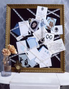 Personalize your memoboard with silhouette papers and notecards...