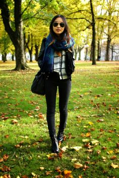 AUTUMN CHECKED | Following-mi streetstyle fashion ombre