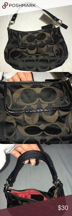 d004a5b7a88b COACH PURSE Black COACH handbag with red interior Coach Bags Shoulder Bags  Coach Purses